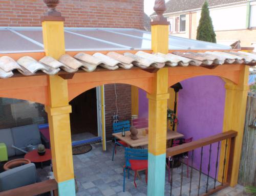Afdak & pergola in Spaanse stijl