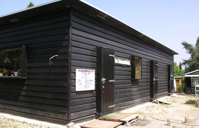 houten gebouw
