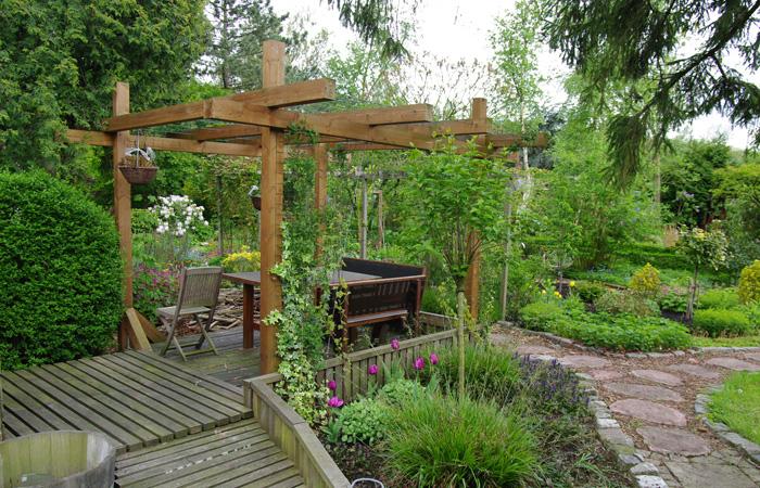Volkstuinhuis van hout samen bouwen met hout - Voorbeeld van houten pergola ...