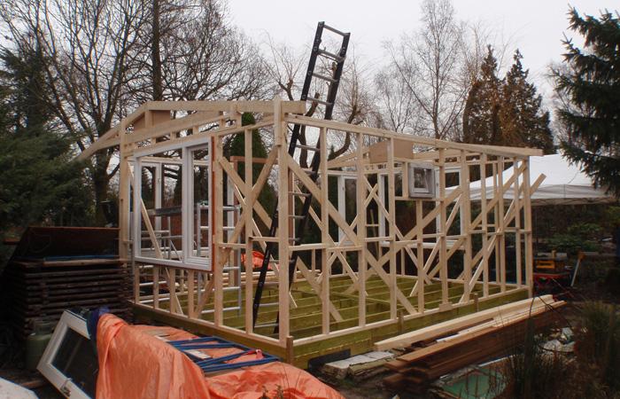Tuinhuis zelf tuinhuis bouwen : Houten tuinhuis op volkstuinvereniging ...