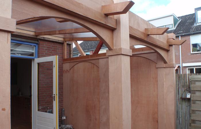 houten afdak